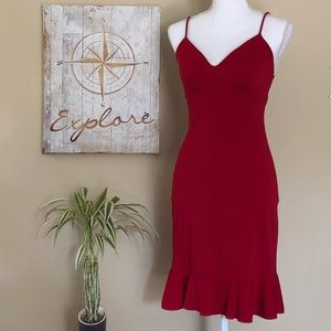 Sfuzi Red Spaghetti Strap Dress
